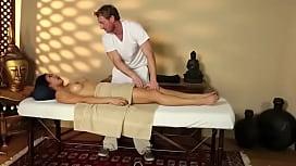 Mia li oil massage...