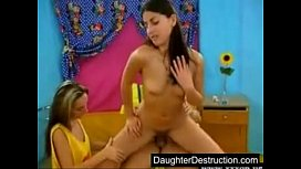 Two daughters hatefucked hard...