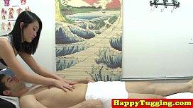 Spycam asian massage jerking...