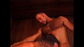 Musclemen in Steamy Threesome...