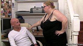 Plump massive boobs secretary...