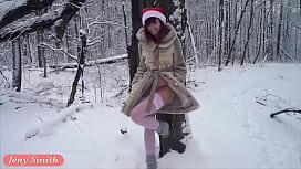 White stockings wet in...