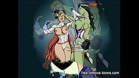 Famous lesbian cartoon girls...