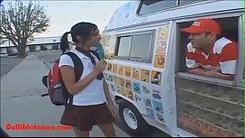 Icecream truck blond short...