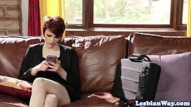 Redhead lesbian Bree Daniels...
