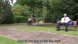 Subtitled bizarre Japanese half...