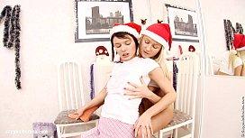 Christmas lesbians have fun...