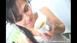 Teen Drink Morning Coffee...