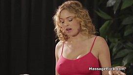 Big tit masseuse rides...