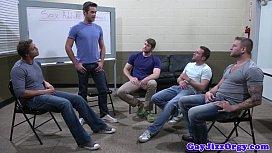 Groupsex gay hunks sucking...