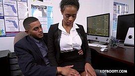 Sexy lovely secretary ebony...