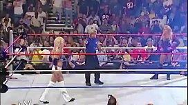 Sable beats up Torrie Wilson.