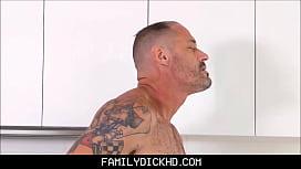 Step Son Sucks Daddy&#039_s Cock In The Kitchen