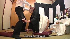 Subtitled Japanese funeral blowjob...