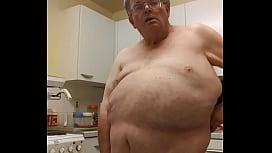 Lxv jack off in kitchen