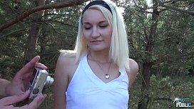 MyFirstPublic Petite teen Blonde...
