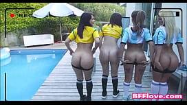 Teen Soccer Best Friends...