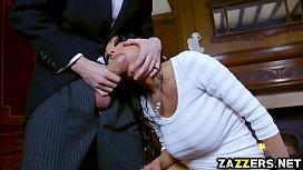 Patty Michova gives Danny...