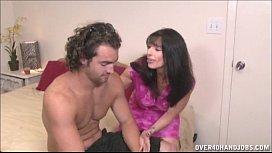 Brunette Milf Topless Handjob...