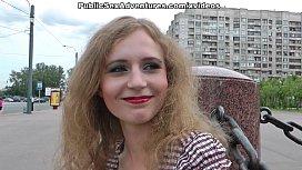 Blonde cutie outdoor sex...