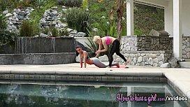 Two hot yoga lesbians...