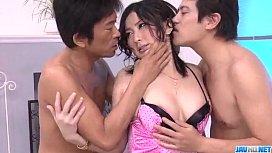 Megumi Haruka enjoys two...