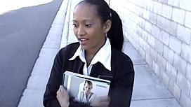 Young schoolgirl girl...
