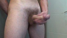 Morning hard cock and big cumshot