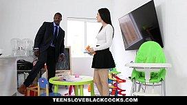 TeensLoveBlackCocks - teen BabySitter Takes...