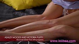 Lesbea Euro babes Ashley Woods and Victoria Puppy facesitting 69 pleasure