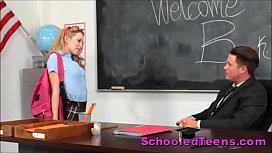 Fresh College Teenage Schoolgirl Seduces Flustered Tutor