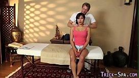 Busty asian massaged babe...