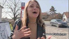 Drilling broke blonde at...