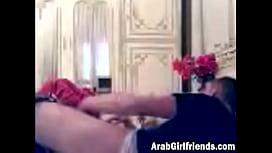 Arab girl filmed in...