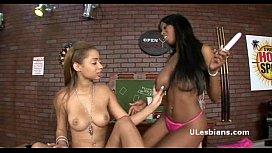 Horny black lesbian girlfriends...