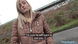 Public Agent Blonde runs...