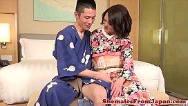 Japanse kimono newhalf assfucking...