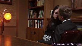 Amateur mormon ho jizzed...