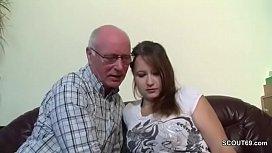Old Grandfather Seduce not Grand-daughter to First Fuck ai uehara interracial