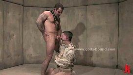 Gay boy tied in...