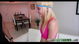 Skinny Blonde Teen Fucked...