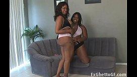 Two chubby black lesbian...