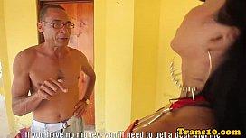 Bikini latina tranny facialized...