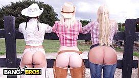 BANGBROS - On The Dude Ranch With Rachel Starr, Karen Fisher and Marissa milana vayntrub porn