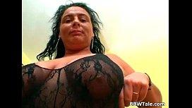 Hot black lingerie on...