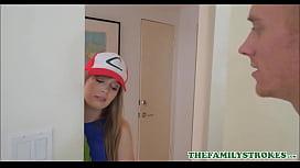 Cute Blonde Teen Stepsister...