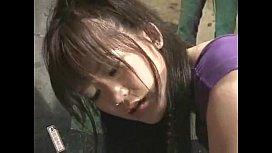 Japanese girl dancing enema...