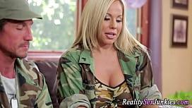Busty army pornstar fuck...