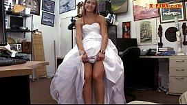 Hot babe pawns wedding...