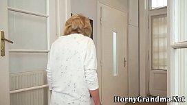 Ancient granny gets fuck...